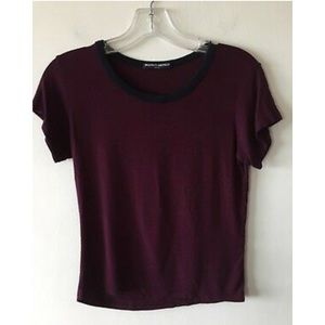 Brandy Melville Maroon short sleeve shirt